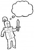 picture of arthurian  - medieval knight cartoon - JPG