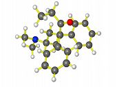 image of methadone  - A ball and stick molecular model of methadone - JPG