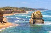 One Of The Famous Limestone Rock Stacks Off The Shore Of Port Campbell National Park - Port Campbell poster