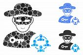 Social Hacker Composition Of Small Circles In Various Sizes And Color Hues, Based On Social Hacker I poster