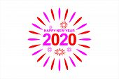 2020 Colorful Text Isolated On White Background, New Year 2020, 2020 Text For Calendar New Years, Ha poster