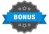 Bonus Blue Label. Bonus Isolated Seal. Bonus poster