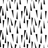 Abstract Seamless Pattern With Graphyc Elements - Black Triangles.  Avant-garde Collage Style. Geome poster
