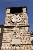 Old Clock Tower In The Old Town. Cator. Old Town. Montenegro poster