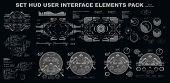 Sci-fi Futuristic Hud Dashboard Display Virtual Reality Technology Screen Hud Interface Elements poster