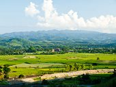 Paddy Field And Moutain View Nearby Mae Suay Reservoir, Chiang Rai, Thailand