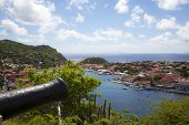 picture of west indies  - Old cannon on top of Gustavia Harbor - JPG