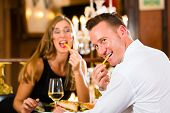stock photo of table manners  - Couple  - JPG