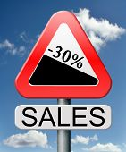 sale 30% off winter off for summer sales text on road sign concept for online web shop internet shop