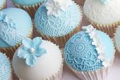stock photo of sugarpaste  - Wedding cupcakes - JPG