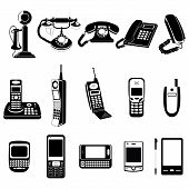 Phone evolution icons