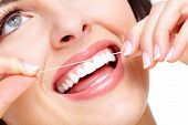 picture of toothache  - Beautiful woman smile - JPG