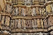 picture of khajuraho  - Human Sculptures at Lakshmana Temple  - JPG