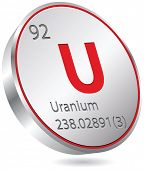 Постер, плакат: uranium element