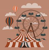 image of ferris-wheel  - Retro fair picture - JPG