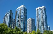 stock photo of high-rise  - Modern apartment buildings in Vancouver - JPG