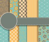 image of paper craft  - set of beaautiful vector paper for scrapbook - JPG