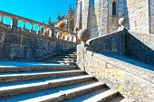 picture of templar  - Staircase of the Templar Castle in the Portugal City of Tomar - JPG