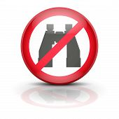 picture of banned  - Symbol binocular - JPG