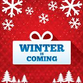 stock photo of applique  - Winter is coming sale background - JPG