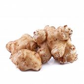 stock photo of jerusalem artichokes  - tubers of sunroot or jerusalem artichoke  - JPG