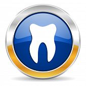 stock photo of gold tooth  - tooth icon - JPG