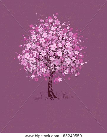 Cherry On Pink Background poster