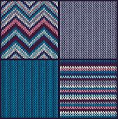 Seamless Knitted Pattern. Set