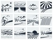 Nature Landscape Icons.