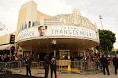 LOS ANGELES - APR 10: Theater at the premiere of 'Transcendence' at the Regency Village Theater on A