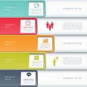 Modern business infographics options banner.