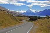 picture of tramp  - Mount Cook  - JPG