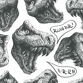 seamless doodle dinosaur pattern jpeg version