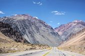 foto of mendocino  - National Road 7 passing by the Department of Lujan de Cuyo in Mendoza Argentina - JPG
