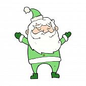 cartoon happy santa claus