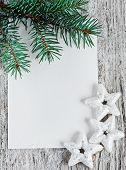 Christmas Card With Firtree Branch