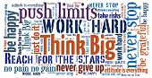 image of reach the stars  - Think Big in word collage - JPG