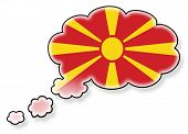 stock photo of macedonia  - Flag in the cloud isolated on white background flag of Macedonia - JPG