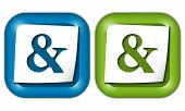 stock photo of ampersand  - set of two icons with paper and ampersand - JPG