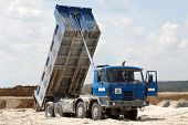 picture of dump-truck  - Freight trucks with dump body - JPG