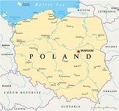 pic of political map  - Poland Political Map with capital Warsaw - JPG