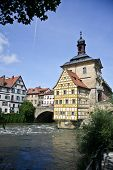 pic of regnitz  - City Hall of Bamberg on  the river - JPG