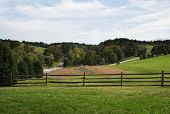 foto of woodstock  - A late summer view of the field where the Woodstock festival was held in Bethel New York - JPG