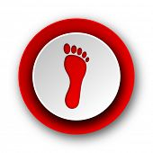 stock photo of webbed feet white  - foot red modern web icon on white background - JPG
