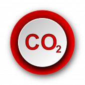 image of carbon-dioxide  - carbon dioxide red modern web icon on white background - JPG