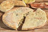 picture of escarole  - stuffed pizza with escarole and pine nut - JPG