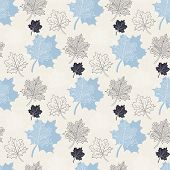 Seamless Autumn Pattern:abstract Blue Leaf,leaf Fall,defoliation,autumn Leaves,falling Leaves poster