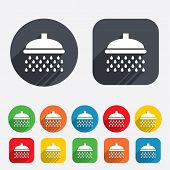 stock photo of douche  - Shower sign icon - JPG