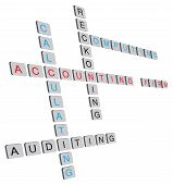 stock photo of nouns  - Words interchangeably accounting firm folded in abstract form - JPG