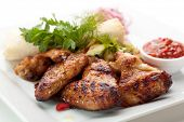 image of chicken wings  - Hot Meat Dishes  - JPG